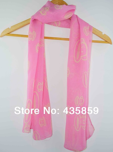 Free Shipping Hot Sale Soft Women Plain Animal Printed Scarves Lady Spring Summer Gift Wrap Stole 4 colors SC6430(China (Mainland))