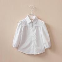 CS4032 Girls kids  Cotton white  blouse children white top lace