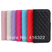 7colors Noble sheep pattern Wallet case flip stand PU Leather smart cover for iphone5 5s 5G Free Shipping 100pcs/lot