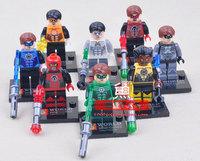 8 pcs/pack Marvel Building Blocks Toys The Avengers Green Lantern 4.5cm High ABS Mini Figure Block Toy For Children New In Box