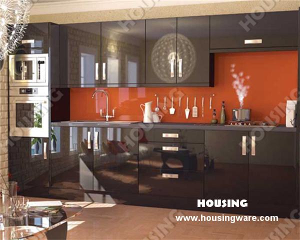 Classics Black Lacquered kitchen cabinet design(China (Mainland))