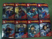 8 pcs/pack Marvel Building Blocks Toys SuperMan 4.5cm High ABS Mini Figure Educational Block Toy Set For Children New In Box