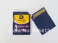 Lexar Digital Film Camera memory card 32MB SD Card 32Mbytes black color