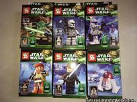 6 pcs/pack Star Wars Building Blocks Toys Yoda/Han Solo/Obi Wan Kenobi/R4-P17/Clone Trooper/Captain Rax ABS Block Toy For Kids