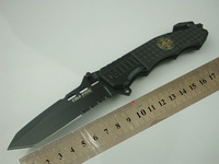 COLD STEEL OEM 229 Camping Survival Folding Knife 7Cr17 57HRC Blade Black Aluminium Handle Free Shipping