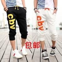 Male 7 harem pants sports pants seven points casual capris breeched boys short trousers h