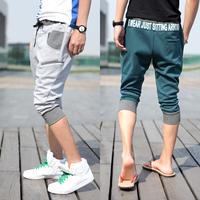Male boys sports pants harem pants seven casual capris breeched foot pants boys short trousers