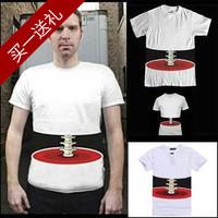 2014 new Korean version of the 3D creative spoof bust skull bones male short-sleeved T-shirt Free shipping S-XL