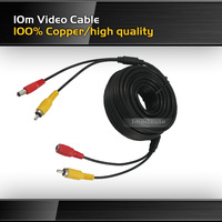 New arrival 100% copper high quality RCA 10 meters video cable for parking camera truck/bus video cable 10m