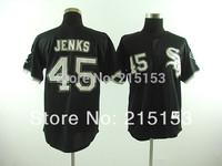 Free Shipping Chicago White Sox #45 Michael Jordan Throwback Baseball Jersey Embroidery Logos  Mix Order
