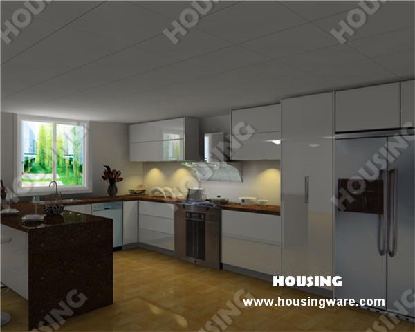 modern design white lacquer kitchen cabinets blum hardware(China (Mainland))