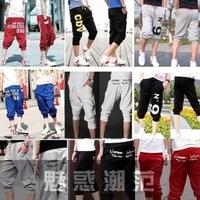 Male boys sports pants harem pants seven casual capris breeched boys short trousers