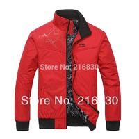 2014 fashion casual men's jackets pu motorcycle leather jacket waterproof high neck slim jacket plus size down jacket