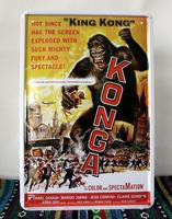 Metal craft of wedding gift !King Kong movie poster Art wall decor House Cafe Bar Vintage metal painting Mix order P-57