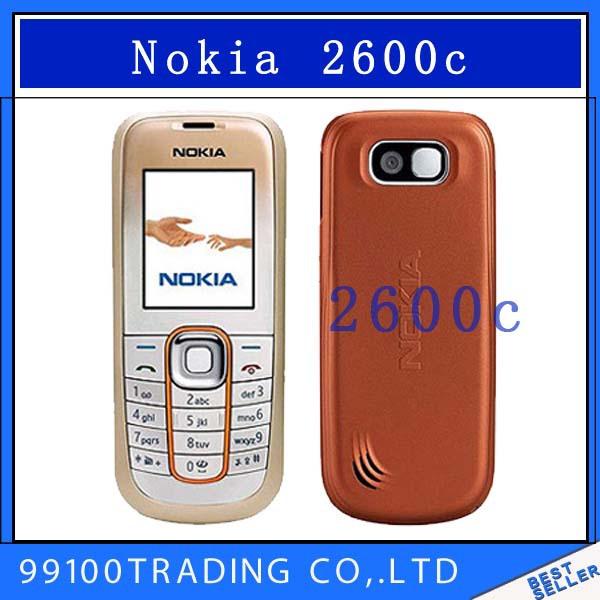 original Nokia 2600c unlocked cell phones java camera 2600 GSM bluetooth mobilephones classic handsets free shipping Refurbished(China (Mainland))