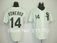 Chicago White Sox Konerko Jersey #14 Paul Konerko Throwback Baseball Jersey Embroidery Logos Size 48 50 52 54 56