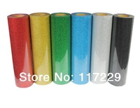 6 pieces  48cm*100cm T shirt heat press film/ PET Glitter  Heat Transfer Vinyl  by Cutter Press