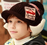 1pcs Promotion 2014 New Arrival Baby Warm Cap Boy And Girl Pilot Hats Winter Child Earflap Caps Kids Bomber Hats