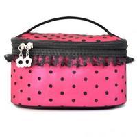 Min Order $15(mixed order)  big dot lace professional cosmetic bag handbag women's handbag big capacity storage bag 1756