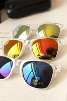 Fashion sunglasses star style transparent mercury mirror reflective sunglasses
