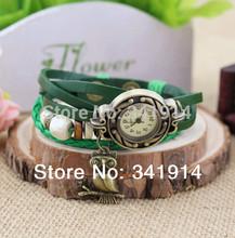 2014 High Quality Women s Lady Girls Leather Vintage Style Jewelry Bracelet Gifts Quartz Wrist Watches