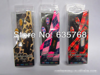 TOP & HOT SELL!Leopard grain/spots headsets, plaid earplugs/MP3MP4 headphones/earphone/headset,wholesale500pcs/lot