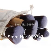1New 11pcs high quality bamboo Make Up Makeup Brush Set Cosmetic Makeup Brushes Kit With Bag free shipping
