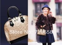 New Fashion  Euro-American Style  Women's messenger  handbag  single-shoulder bag 100% GENUINE COW LEATHER Hot sale Champagne