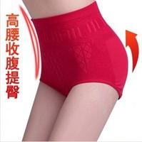 2014 New Ladies Briefs Candy Color High Waist Cotton Blends Comfortable Underwear Women's Seamless Short 5Pcs/lot Wholesale