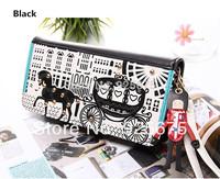 Fashion Pony Car lady Women long Purse Clutch Wallet Zip Bag Card/Phone holder Women's Wallets