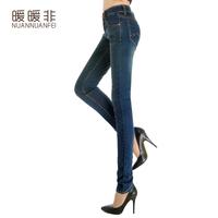 2014 spring women's pencil skinny jeans female trousers elastic slim trousers