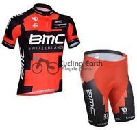 Free shipping! 2014 BMC #2 short sleeve cycling jersey shorts set, bike bicycle wear clothes jerseys pants,silicone pad