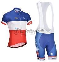 2014 NEW! FDJ #1 short sleeve cycling jersey bib shorts set bike bicycle wear clothes jersey pants,Free shipping!