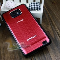 For samsung    for SAMSUNG   i9100galaxy s 2 metal wiredrawing phone case mantianxing protective case
