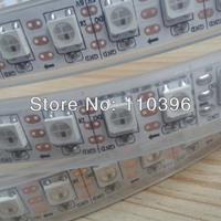 dc 5v 74led/m 5050 smd addressable ws2811 rgb led strip, magic color waterproof ip67 ws2812b led pixel strip,white pcb 5m/roll