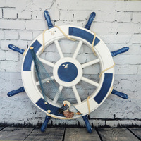 Free Shipping! Special Price! Mediterranean Style Decoration Rudder, Steering Wheel Ocean Wall Hang Decorations, Helmsman