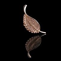 Fashion corsage zircon full rhinestone leaf brooch female pin cape accessories