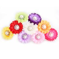 Fabric flower rhinestone belt the bride hair accessory u hair stick hairpin hair accessory marriage props