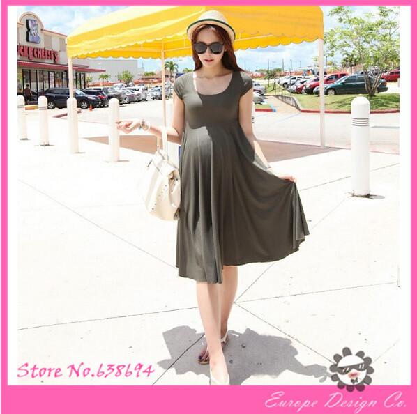 2014 d'été de la mode automne hiver printemps, modèle de causalité robe de maternité minces. plug taille robes, vestidos enceintes vêtements haut