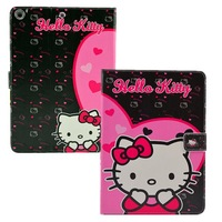 2014 New Smart Cover For iPad Air iPad 5 Case Cute Hello Kitty Skin Leather Tablet Case Free Shipping