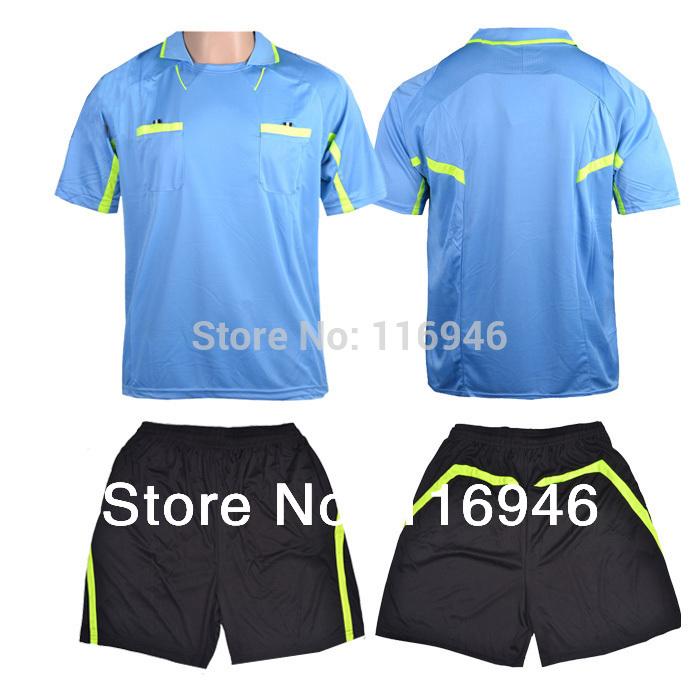 [Bella Sports]Men's Soccer Referee Uniform (Shirt+Short), Football Referee Uniform Soccer Jersey 100%Polyester 1MC0003(China (Mainland))