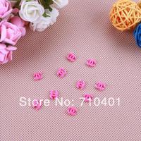 New Free Shipping Wholesale/ Nail Supplier,100pcs 3D Plastic Rose Logo Resin UV Gel Sticker DIY Acrylic Tip Nail Design/Nail Art