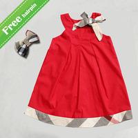 High quality baby vest dresses 2015 hot sale UK name brand fashion summer babi girl dress kids clothes belt