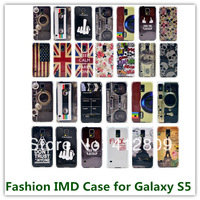 15PCS New Hard IMD Plastic Beauty Animals Pattern City View Flags Covers Case for Samsung Galaxy S5 i9600 Free Shipping