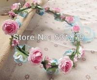 Wedding bridal decorative wreaths paper garland for wedding party garland DIY head crowns NW015 in free shipping