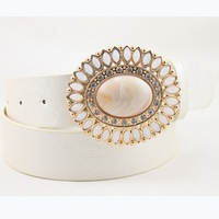 High Quality Female Retro Belt Metal Buckle With White Rhinestone Waistband Decoration For Women