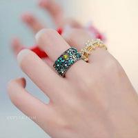 Free Shipping!2014 Accessories Fashion Personality Sweet Chrysanthemum Bright Rhinestone Ring Jewelry Female