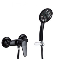 Free Shipping Bathroom Shower Mixer Set Black Color Mixer Tap Mixer and Shower Wholesale