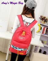 Letter printing trend canvas student school knapsacks female male travel all-match backpack computer laptop double shoulder bags