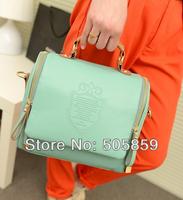 Hot Sell 6 Color Women Korean Fashion Handbag PU Leather Ladies Hand Bag Shoulder Bag Cross Body Bags for Women 2014